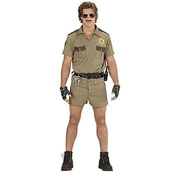 California Highway Patrol Officer Men's Costume Large for Cop Police Fancy Dress