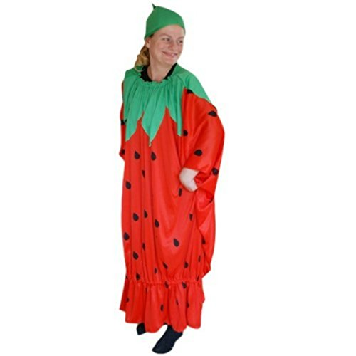 Strawberry adult-s halloween costume-s, unisex women-s men-s, To77 Size: XL