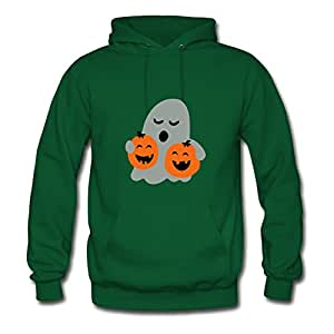 X-large Women Cute Halloween Fashionable Custom-made Green Cotton Hoodies