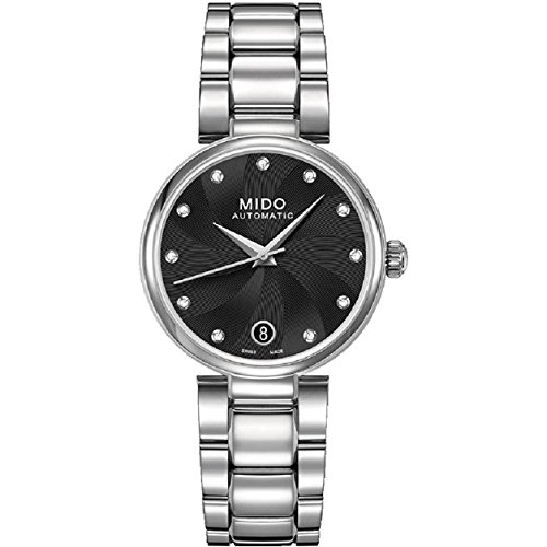 Mido Women's Baroncelli II Diamond 33mm Steel Bracelet & Case Automatic Analog Watch M022.207.11.056.10