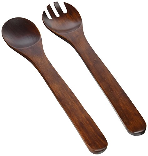 Acacia Salad Servers (Lipper International 286 Cherry Finished Salad Servers, 12