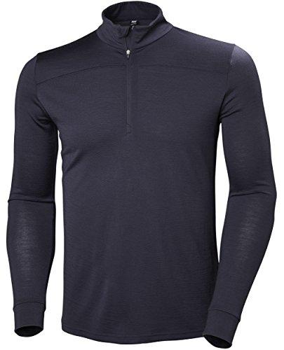 Helly Hansen Hh Merino Wool Mid 1/2 Zip Baselayer Top, Graphite Blue, Large