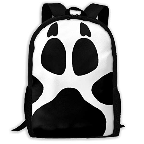 DFNRF Backpack for Girls Wolf Paw Print Zipper School Bag (Yamamoto Print)