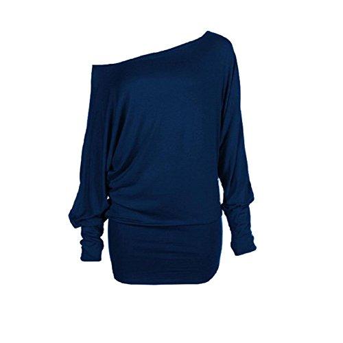 Mujer Marino Camisas Fashions Azul Para Momo xHBUzfwqn