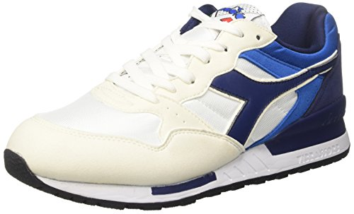 Diadora Herren Intrepid NYL Sneaker Elfenbein (White/Estate Blue/Skydiver)