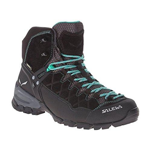 All Mountain Alpine Boot (Salewa Women's ALP Trainer Mid GTX-W Boot, Black Out/Agata, 8 D US)