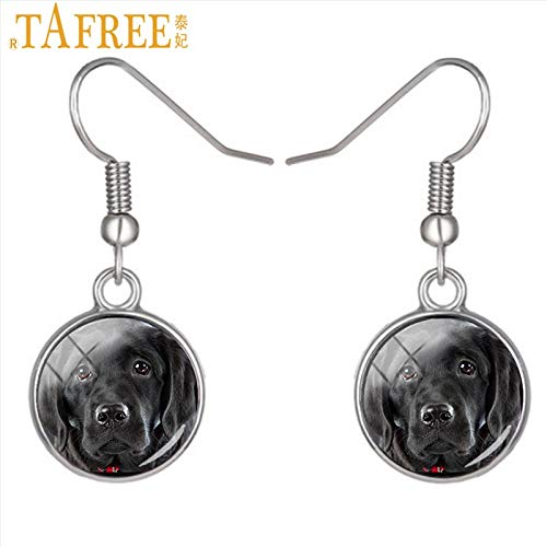 - Best Quality - Drop Earrings - New Fashion Dog Lover Women Dangle Earrings French Bulldog Black lab Cocker Spaniel Boxer Drop Earring Jewelry Gifts DG25 - by Mct12-1 PCs