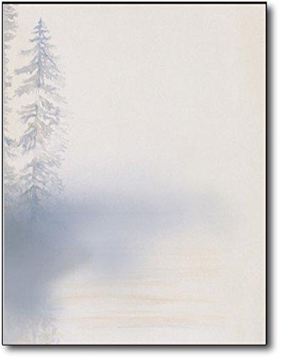 Morning Mist Stationary Letterhead Paper - 80 Sheets