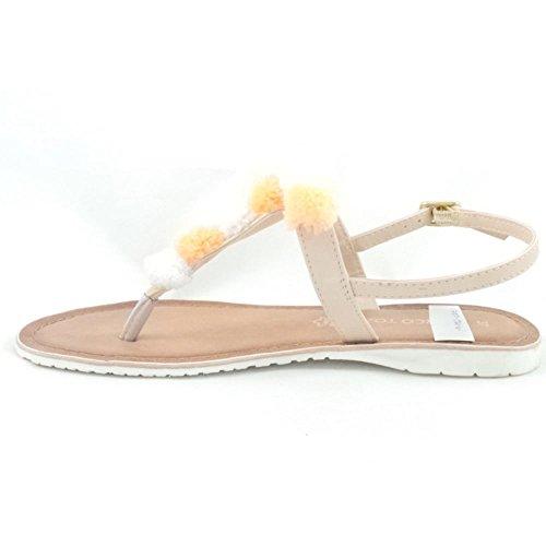 femme beige beige Sandales Tozzi Marco pour wqtCw4ZxA