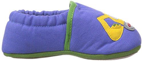 Giesswein Birkholz - pantuflas de aprendizaje de lana bebé azul - Blau (capriblau / 547)