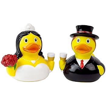 Amazon Com Set Of 12 Wedding Rubber Duckies Ducks Bride