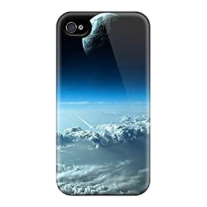 Archerfashion2000 Fjf17796VTEd Cases For Iphone 4/4s With Nice Space Moon Appearance