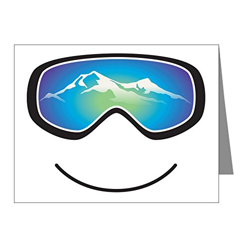CafePress - Goggle Black - Blank Note Cards (Pack of 20) Matte ()