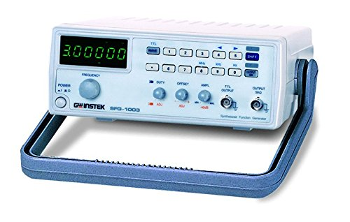 GW Instek SFG-1013 DDS Function Generator with Voltage and 6 Digit LED Display, 0.1Hz to 3MHz Frequency 58-60VP-CAFT
