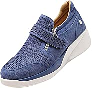 Womens Shoes with Arch Support Ladies Slip on Sneakers Wedge Running Shoes