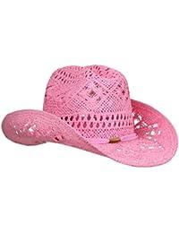 Stylish Toyo Straw Beach Cowboy Hat W Shapeable Brim fa793fc70b56