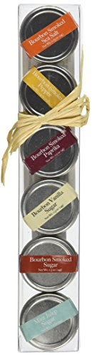 Bourbon Barrel 6 Piece Gift Set of Spices and Sugars by Bourbon Barrel Foods