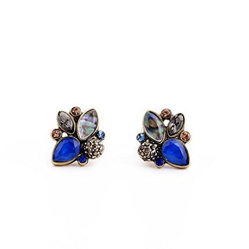 Wholesale Retro Jordans (JD Million shop Elegant Rhinestone Earrings Wholesale Mulit Color Retro Pendientes Stud Earrings Jewelry)