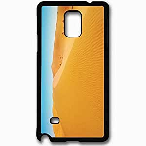 Unique Design Fashion Protective Back Cover For Samsung Galaxy Note 4 Case Desert Background Nature Black