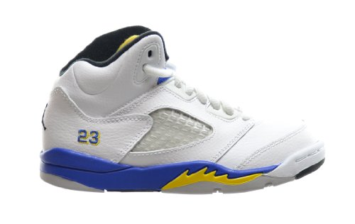 Jordan 5 Retro (PS) Little Kids Basketball Shoes White/Varsity Royal-Black 440889-189 (1 M US) by Jordan