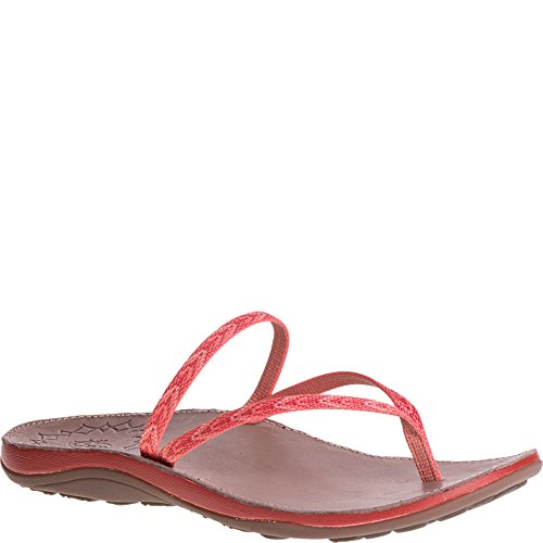 Chaco Women's Abbey Flip-Flop, Motif Peach, 12 Medium US (Textile Motif)