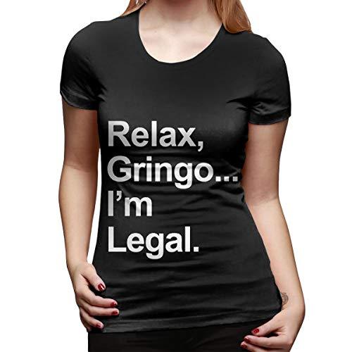 GIQQJJIN Women's Relax, Gringo.I'm Legal Round Neck Short Sleeve Sexy Tee Tops Cotton T-Shirts