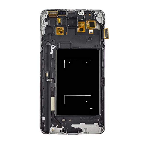 LCD Display Touch Screen Digitizer Assembly Replacement with Frame for Samsung Galaxy Note 3 Note3 N900 N9005 N9008 N900V/P N900A/T,Free Tools and Screen Protector (Black) (Note3 Screen Replacement Lcd)