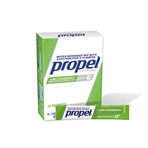 Propel Powder Packets Kiwi Strawberry with Electrolytes, Vitamins and No Sugar (10 - Packets Mix Propel Drink