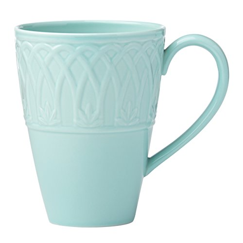 Lenox British Colonial Carved Mug, Aqua - Aqua Mug