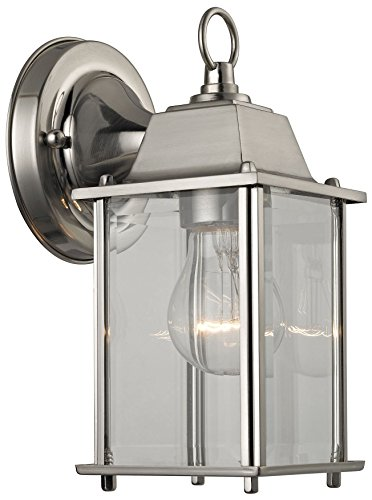 (Cornerstone Lighting 9231EW/80 1 Light Outdoor Wall Sconce, Brushed Nickel )