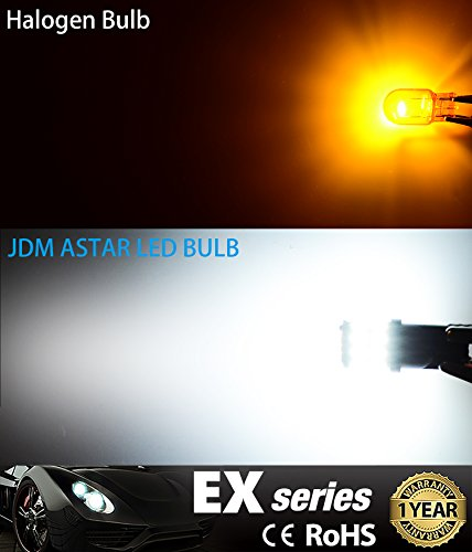 JDM ASTAR Extremely Bright 30 EX Chipsets 168 175 194 2825 W5W T10 New Style LED BulbsXenon White Interior Use Only