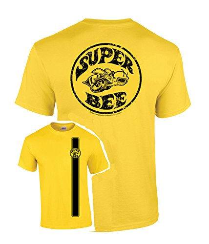 David Carey Unisex Adult Officially Licensed Stinger Yellow Super Bee T-Shirt - Large ()