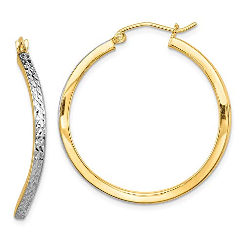 925 Sterling Silver Vermeil Wavy Square Hoop Earrings Ear Hoops Set Fine Jewelry Gifts For Women For Her (Vermeil Plated Earring Studs)