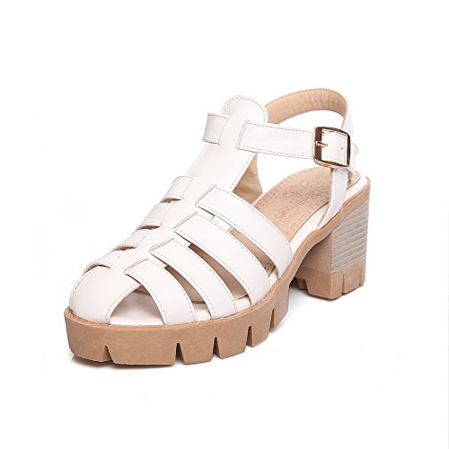 Sandals Solid Women's Kitten Toe Buckle Heels Open WeenFashion White Platforms q81AfxwB