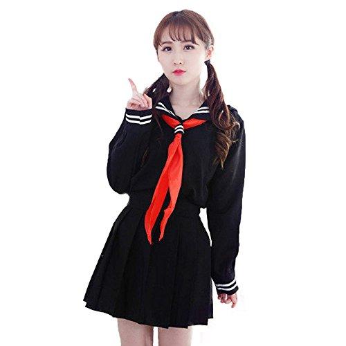Dahliate Women's Sexy High School Uniform Set Sailor Dress Cosplay Costume