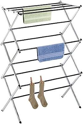 Amazoncom Whitmor Foldable Drying Racks Chrome Home Kitchen