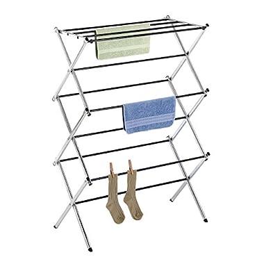 Whitmor 6060-741 Folding Clothes Drying Rack, Chrome, Rust-Proof Guarantee, Premium Quality