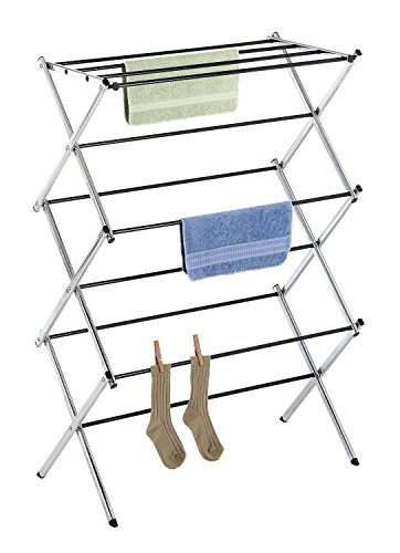 - Whitmor Foldable Drying Racks - Chrome