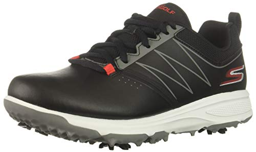 Skechers Boys' Blaster Golf Shoe, Black/Red 7 M US Big Kid