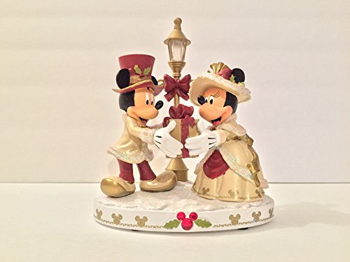 Victorian Christmas Figurine - DISNEY PARKS MICKEY AND MINNIE MOUSE LIGHT-UP VICTORIAN CHRISTMAS FIGURINE