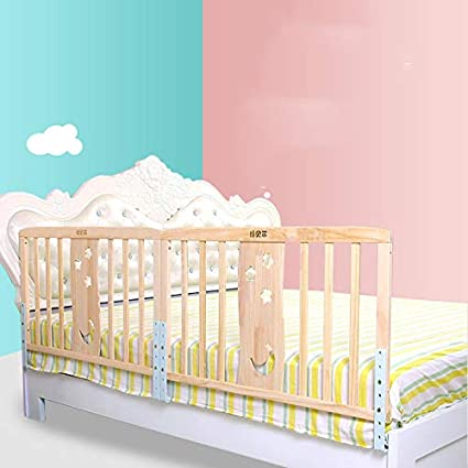 Size : 60CM King Bed Universal Bed Fence Baby Drop Protection Bar Vertical Lift Bedside Guardrail High 76cm Wood Bed Rail
