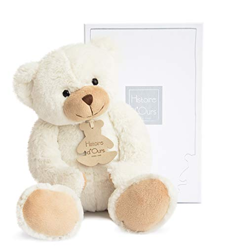 HISTOIRE D'OURS - Medium White & Ivory Cuddly Bear - White