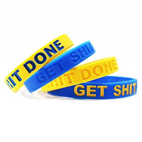 Nfl Sport Bracelet - Inspirational Silicone Bracelets Rubber Band Wristbands. Custom Embossed With Motivational Saying