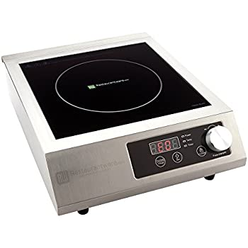 portable induction cooktop rwt0093 u2013 1800w 120v countertop induction cooker with digital temperature display perfect for restaurants and - Induction Burner