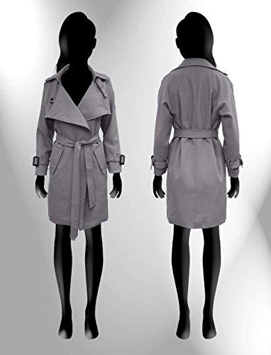 Ma Coquette - Abrigo - Manga Larga - para mujer gris