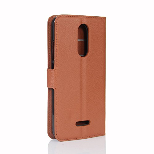 Funda WIKO U plulse,Manyip Caja del teléfono del cuero,Protector de Pantalla de Slim Case Estilo Billetera con Ranuras para Tarjetas, Soporte Plegable, Cierre Magnético(JFC11-18) I