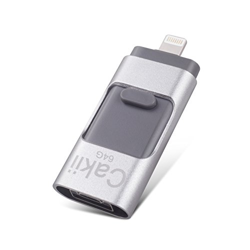 USB flash drive iPhone storage 64GB 3 in1, external memor...