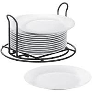 Cooks Set of 12 Stackable Catering Salad Plates with Wire Stand (12 at 7.5 in  sc 1 st  Amazon.com & Amazon.com | Cooks Set of 12 Stackable Catering Salad Plates with ...