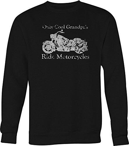 DISTRESS Only Cool Grandpa's Ride Motorcycles Bike Crewneck Sweatshirt XLarge