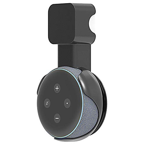 """""""Made for Amazon"""" Wall Mount for Amazon Echo Dot (3rd Gen), Outlet Hanger Accessories, A Space-Saving Solution for Echo Dot Smart Speaker, Built-in Cable Management function, No Messy Wires or Screws"""